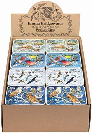 Emma Bridgewater Bird Families Swifts and Martins Slip Lid Pocket Tins 112 x 77 x 24 mm