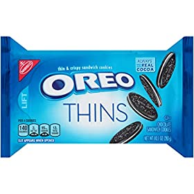 Oreo Thins Chocolate Sandwich Cookies, 10.1 Ounce