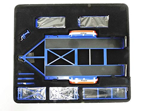 Tandem Car Trailer with Tire Rack Mopar 1/18 Diecast Model by GMP 18916 from GMP