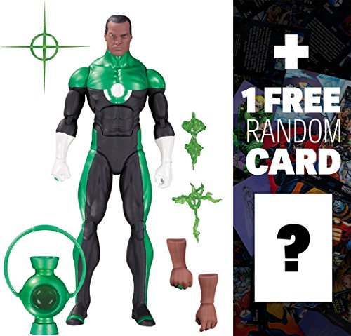 "Green Lantern - John Stewart [Mosaic]: ~6"" DC Comics Icons Action Figure + 1 FREE Official DC Trading Card Bundle (33619)"