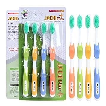 CWAIXX Cepillo de dientes de cerdas suaves_16 Gramos de diente de oro cepillo cepillo de dientes de cerdas suave adulto pérdida de sustentación 16 Cepillo G ...