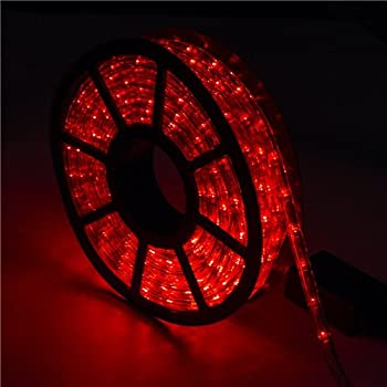 Amazon mcombo led rope light 2 wire 110v lighting outdoor xmas 5a parts red led rope lights strips 100 feet 30m christmas holiday decoration lighting indoor aloadofball Image collections