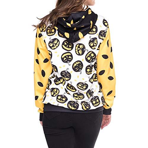 YANG-YI Hot, Women Halloween Pumpkins 5D Printing Hoodie Sweatshirt Pullover Top by YANG-YI (Image #2)