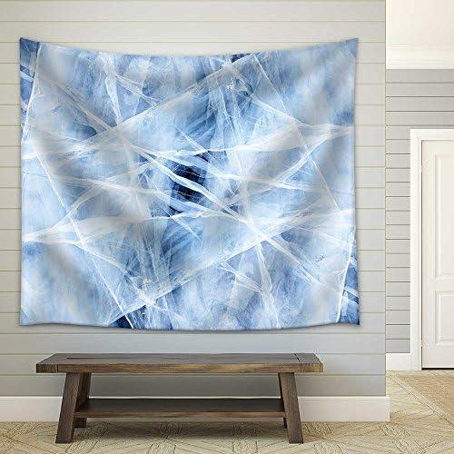 Texture of Ice of Baikal Lake in Siberia Fabric Wall