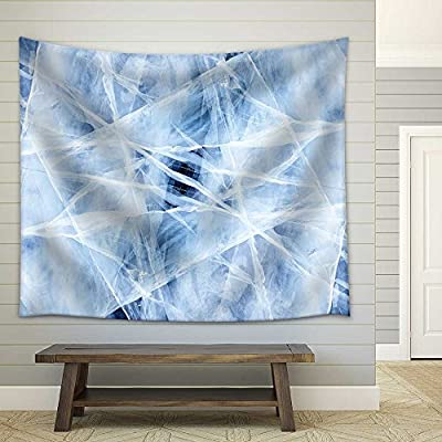 Fascinating Style, Texture of Ice of Baikal Lake in Siberia Fabric Wall, it is good