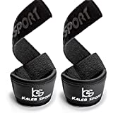 Weight Lifting Padded Wrist Straps - Men & Women - Deadlift, Olympic Weightlifting, Power Training, Heavy Duty Gym Workout, Powerlifting, Bodybuilding, Barbell Deadlifting, CrossFit Bar - Best Grip