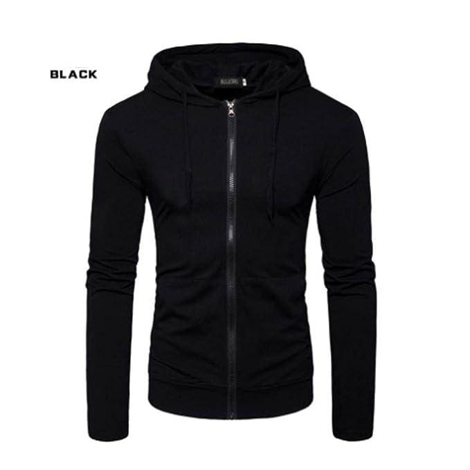 df197927 OGOUGUAN Karl Aiken Men's Pullover Hooded Sweatshirt Hipster Casual Slim  Fit Hoodies (Black, Large