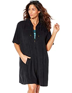 f9c1194689 NDK New York Women's Terry Cloth Swimsuit Cover Up (100% Cotton) at ...
