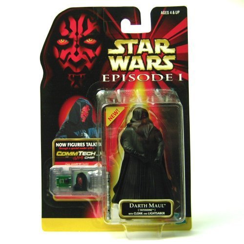 Star Wars Star Wars Episode 1 CommTech Chip 4 Inch Tall Action Figure - DARTH MAUL (Tatooine) with Cloak and Lightsaber ... figure doll toy ( parallel imports (Star Wars Figure Commtech Chip)