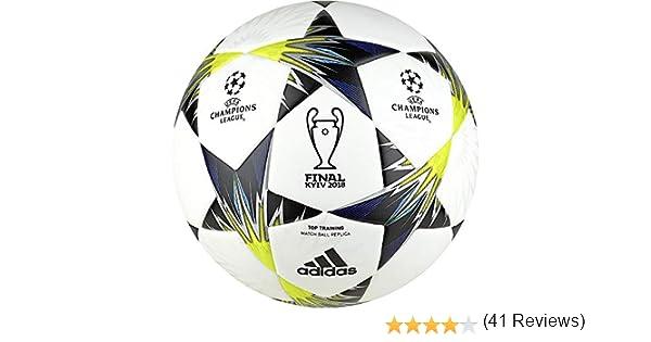 adidas Finale Kiev TT Balón, Hombre, (Blanco/Negro/Amasol/Azul), 5 ...