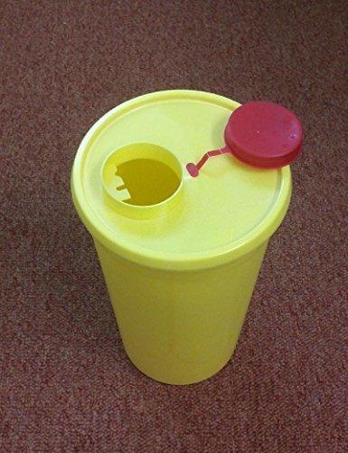 Kanülenabwurfbehälter - 1 Liter Quickbox - gelb - 1 Stück