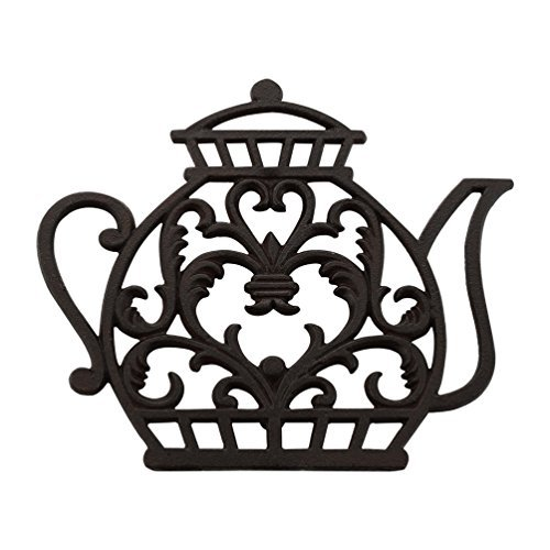 Tea Pot Cast Iron Trivet Old Fashioned, Home Decorative Gift, TD001 Bestplus ()