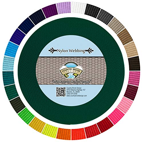 Country Brook Design - Green 5/8 Inch Heavy Nylon Webbing (10 Yards)