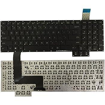 Laptop Keyboard Compatible for Asus G750 G750JG G750JH G750JM G750JS G750JW G750JX G750JZ US Layout Black Color No Frame