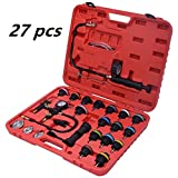 Zorvo 27 pcs Universal Radiator Pressure Tester and Vacuum Pump Type Cooling System Kit Refill Kit W/Case
