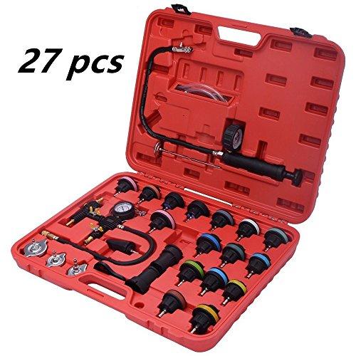 Zorvo 27 pcs Universal Radiator Pressure Tester and Vacuum Pump Type Cooling System Kit Refill Kit W/Case by zorvo (Image #8)