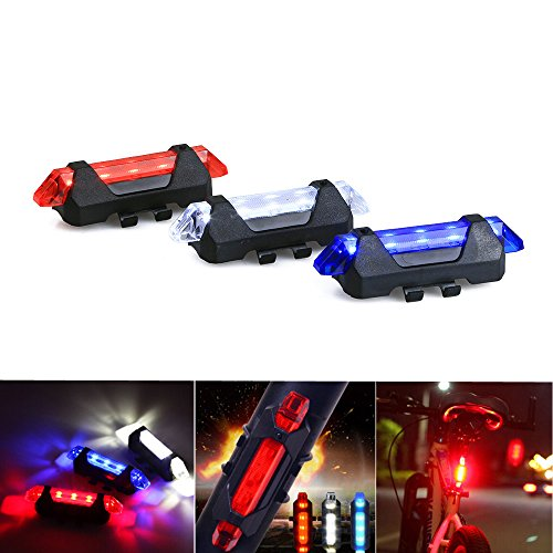 CISNO Volcano Waterproof Bicycle Riding Light with White Blue Red for Safe Healthy Riding