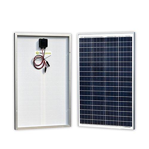 High Watt Solar Panels - Newpowa 100 Watts 12 Volts Polycrystalline Solar Panel 100W 12V High Efficiency Module Rv Marine Boat Off Grid