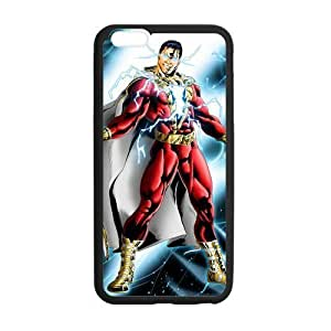 Captain Marvel Shazam Case Custom Durable Hard Cover Case for iPhone 6 - 4.7 inches case - Black Case by runtopwell