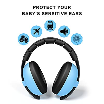 BUENAVO Baby Earmuff Noise Reduction Comfortable Headband Noise Cancelling Headphone for Baby and Toddlers Outdoor Safety Hearing Protection