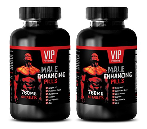 Muscle Enhancer for Men - Male Enhancing Pills 760MG - Horny Goat Weed Benefits - 2 Bottle (120 Tablets) 3B