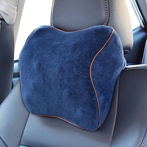 Vitodeco-Velour-Neck-Pillow-for-Travel-Best-Memory-Foam-Travel-Cushion-Neck-Pillow-Car-Pillow-Neck-Rest-pillow-Neck-Support-Pillow-with-Massage-Spots-Blue