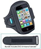 Armband for iPhone 4S Bundled with EX3 Armband Extender (fits iPhone 4, iPhone 4S, iPhone 3G / 3GS)