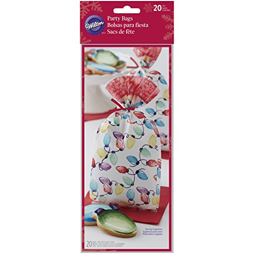 Wilton Christmas Lights Treat Bags, 20-Count (Mini Treat Bags Twist Ties compare prices)