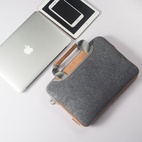 Laptop Sleeve XIAO QIAO Laptop Bag for 13-13.3 Inch MacBook Air, MacBook Pro 2017/2016, iPad Pro Ultrabook Acer Asus Dell HP Chromebook, Dark Gray Photo #7