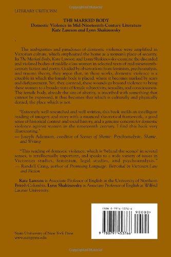 The Marked Body: Domestic Violence in Mid-Nineteenth-Century Literature: Amazon.co.uk: Kate Lawson, Lynn Shakinovsky: 9780791453766: Books