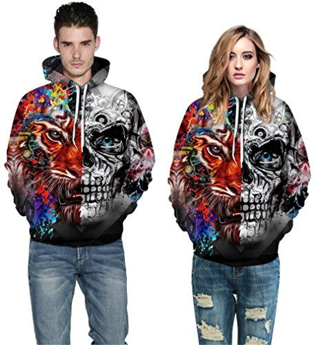 shirt Femme Edge Sweat Skull Double Amoma xnYFwcgqB4