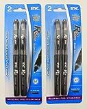 Inc. R-2 2 Packs of 2 Roller Ball Pens - 0.7mm Black Ink - (4 Pens Included)