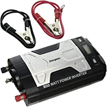 ENERGIZER 900 Watt Power Inverter converts 12V DC from car's battery to 120 Volt AC with 2 USB ports 2.1A shared compatible with iPad iPhone