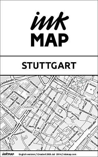 Stuttgart Inkmap - maps for eReaders, sightseeing, museums, going out, hotels (English)