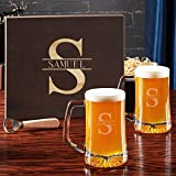Oakmont Engraved Beer Gift Set with Wooden Box (Customizable Product)