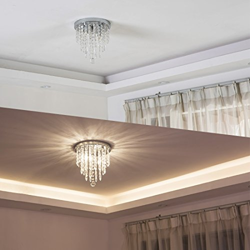 lifeholder Mini Chandelier, Crystal Chandelier Lighting, 2 Lights, Flush Mount Ceiling Light, H10.4'' x W8.66'' Modern Chandelier Lighting Fixture for Bedroom, Hallway, Bar, Kitchen, Bathroom by lifeholder (Image #6)