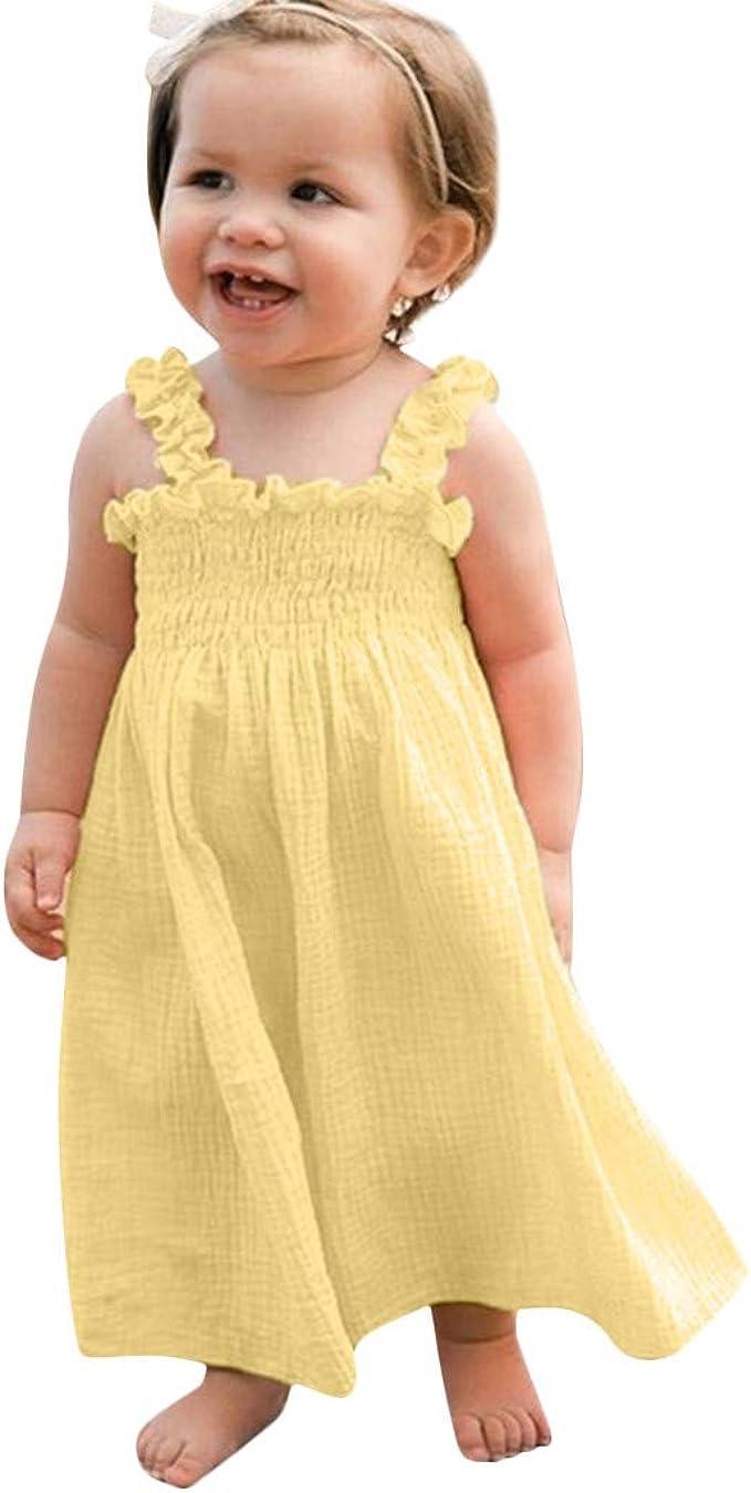 MAYOGO Bebe Niña Vestido Verano Chica Vestido Tirantes Una Pieza ...