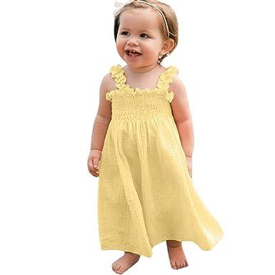 MAYOGO Bebe Niña Vestido Verano Chica Vestido Tirantes Una ...