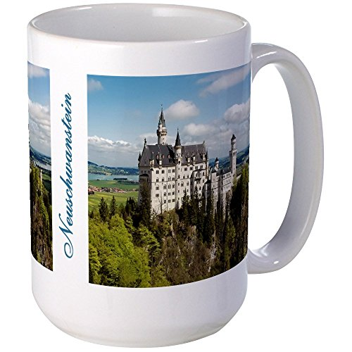 CafePress - Neuschwanstein Large Mug - Coffee Mug, Large 15 oz. White Coffee (King Ludwig Beer)