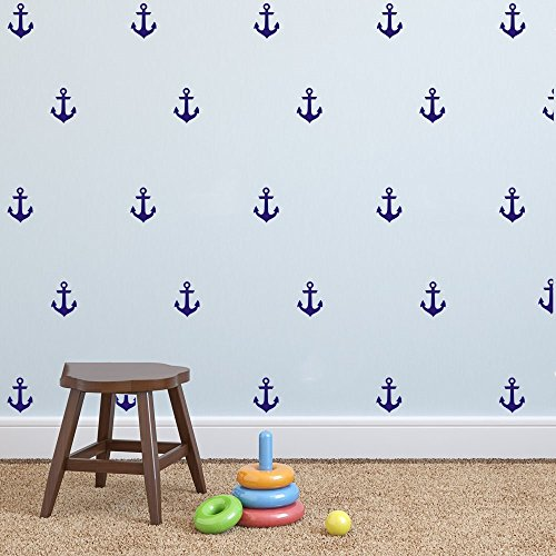 Cheap  YOYOYU Set of 48 Anchor Pattern Wall Sticker Vinyl Sailing Nautical Wall..