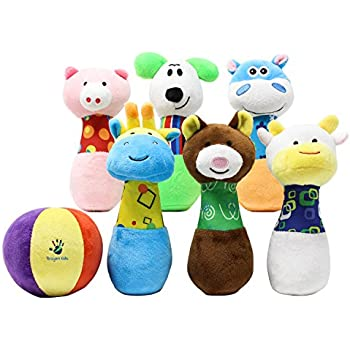 PinPals Developmental Bowling Game Set for One Year Old Boys and Girls by Broyani Kids