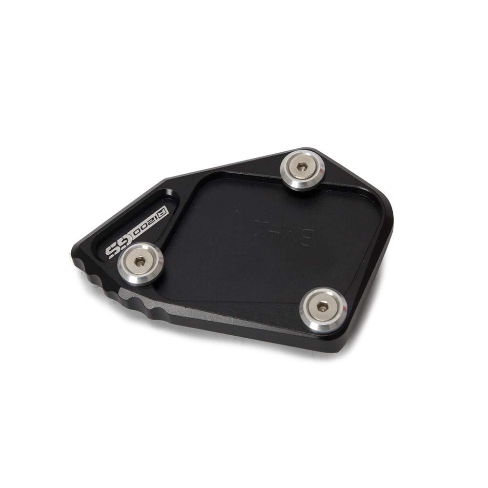 Entweg Kickstand Placa Pad Accesorios para Motocicletas Pie Soporte Lateral Ampliaci/ón Ampliaci/ón CNC Aluminio para BMW R1200 GS 2007-2012 R1200 ADV 2008-2012