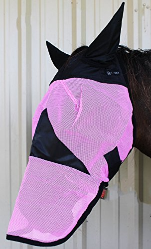 CHALLENGER Equine Horse Fly Mask Summer Spring Airflow Mesh UV Mosquitoes 73271 ()