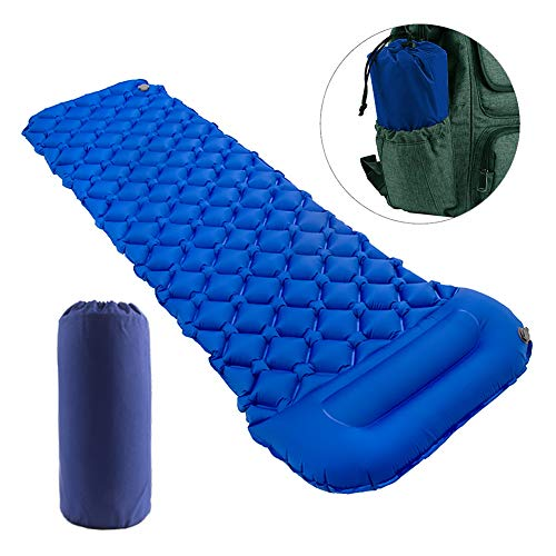 Star Smart Sleeping Pad for Camping Inflatable Backpacking Pad with Pillow, Ultralight Durable Camping Mattress,Hiking Air Mat,Camp Sleep Pad for Hiking Traveling & Outdoor Activities