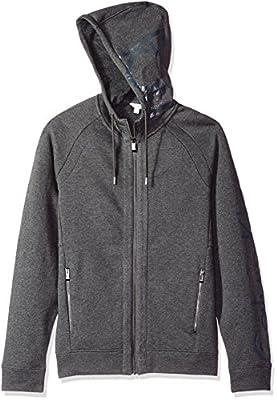 Calvin Klein Men's Long Sleeve Ck Logo Fleece Hoodie
