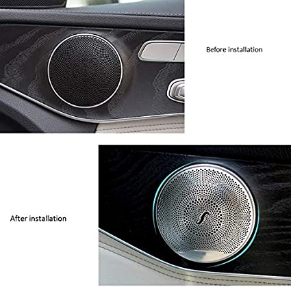Toogoo Car Audio Lautsprecher Abdeckung Tuer Lautsprecher Abdeckung Fuer Mercedes E C Glc Class W213 W205 Matt Auto