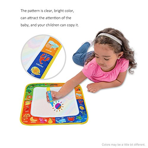 Color Water Drawing Mat Board Water Drawing Mat - New Drawing Toys Water Drawing Mat 29 30 CM Board Painting and Writing Doodle With Magic Pen Non-toxic Drawing Board - Coolplay Water Drawing Mat