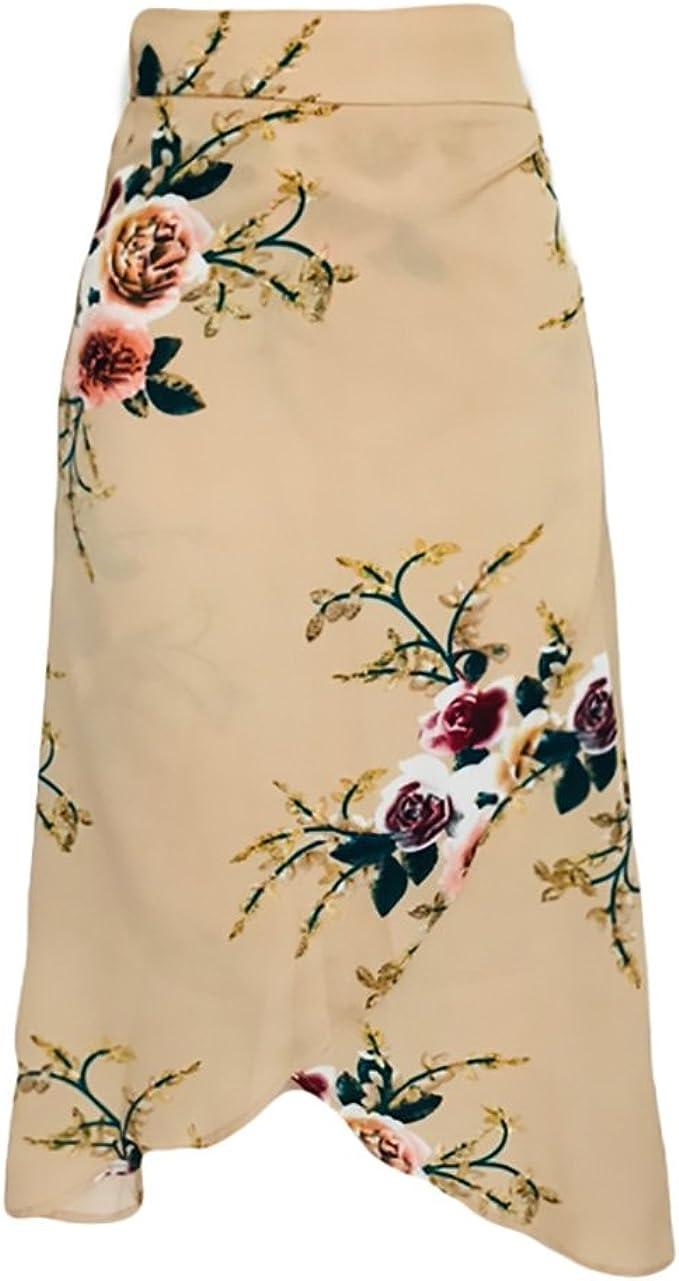 Adelina Faldas Mujer Elegantes Vintage Estampado Flores Largas ...