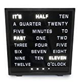Word Clock - Displays LED Time as Text Letters as Time by Urban Clock