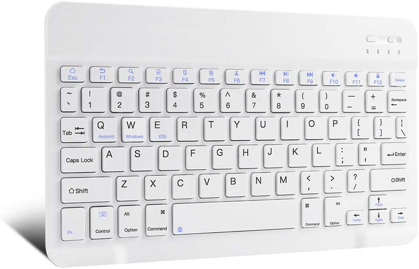 XIWMIX Ultra-Slim Wireless Bluetooth Keyboard - Universal Rechargeable Bluetooth Keyboard Compatible with iPad Pro/iPad Air/iPad 9.7/iPad 10.2/iPad Mini and Other iOS Android Windows Devices